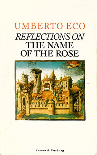 """9780436140983: Reflections on the """"Name of the Rose"""""""