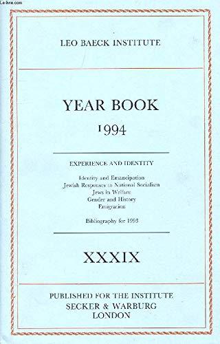 Leo Baeck Institute Year Book 1994 (Vol: The Leo Baeck