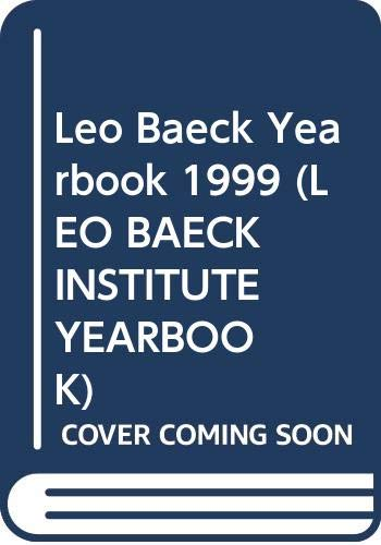 Leo Baeck Institute Year Book XLIV 1999.: Grenville, J.A.S., edited