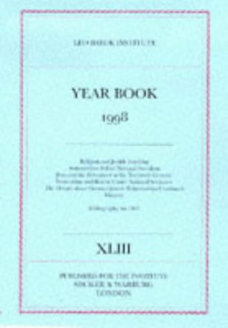 Leo Baeck Institute Year Book 1998 (0436220784) by J. A. S. Grenville
