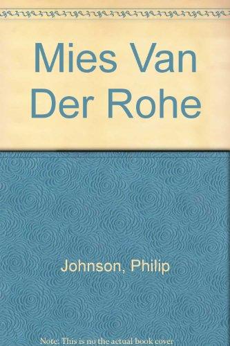 9780436225116: Mies Van Der Rohe