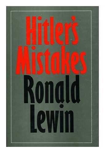 9780436245626: Hitler's Mistakes