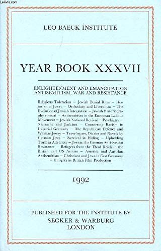 Leo Baeck Institute Year Book XXXVII - 1992