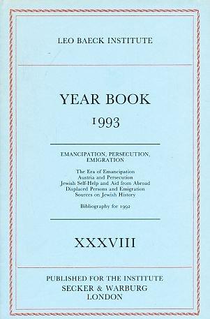 Leo Baeck Institute Year Book 1993 (v.: The Leo Baeck