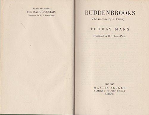 9780436272301: Buddenbrooks: The Decline of a Family