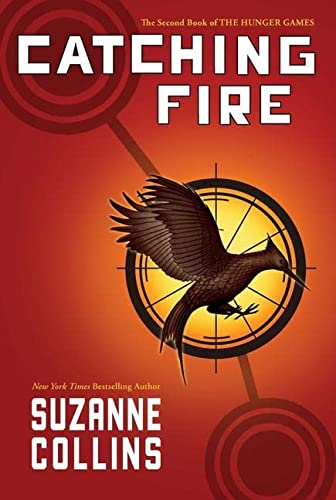Catching Fire (Hunger Games) 1st/ 1st, hardcover signed suzanne collins & Quote from book