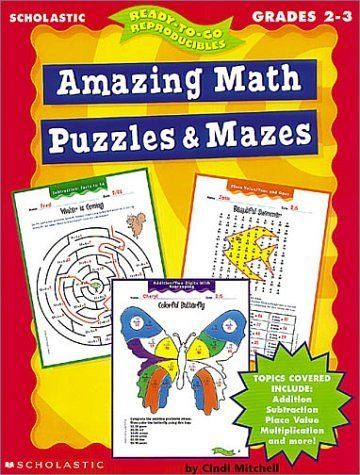 9780439042352: Amazing Math Puzzles & Mazes (2-3) (Ready-To-Go Reproducibles)