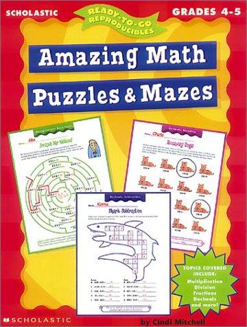 9780439042369: Amazing Math Puzzles & Mazes (Grades 4-5)