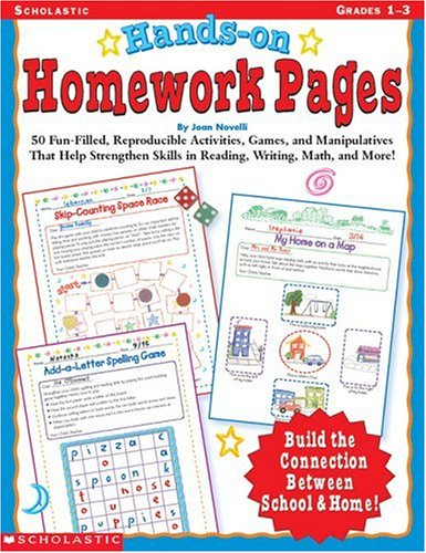 9780439043854: Hands-On Homework Pages: 50 Fun-Filled, Reproducible Activities, Games, and Manipulatives That Help Stregthen Skills in Reading, Writing, Math, and More!