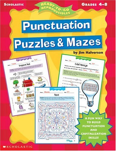 9780439051880: Punctuation Puzzles & Mazes (4-8) (Ready-To-Go Reproducibles)