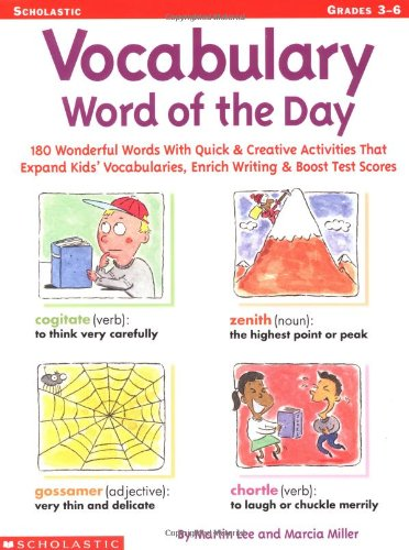 Vocabulary Word of the Day: 180 Wonderful: Lee, Martin, Miller,
