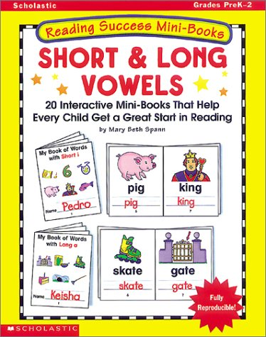 9780439086776: Long and Short Vowels: 20 Interactive Word Books That Help Every Child Become a Better Reader (Reading Success Mini-Books)