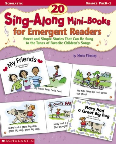9780439104340: 20 Sing-Along Mini-Books for Emergent Readers