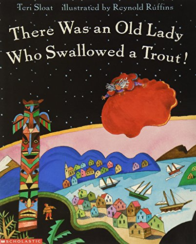 9780439139496: There Was an Old Lady Who Swallowed a Trout!