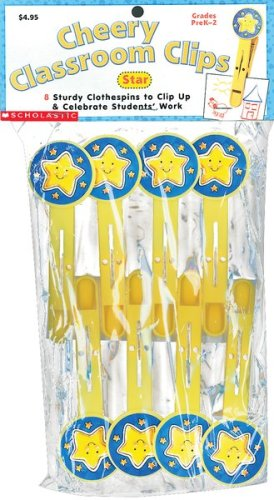 Star Eight Delightful Clothespins (Cherry Classroom Clips) (9780439152839) by Scholastic