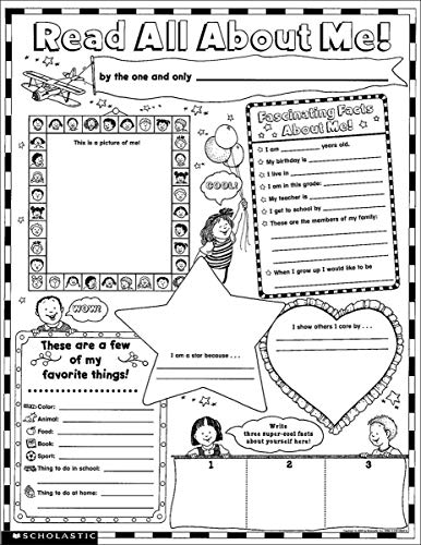 9780439152853: Instant Personal Poster Sets: Read All About Me: 30 Big Write-and-Read Learning Posters Ready for Kids to Personalize and Display With Pride!