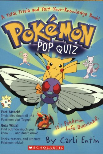 9780439154062: Pokemon: Pokemon Pop Quiz!: A Total Trivia and Test Your Knowledge Book: A Total Trivia And Test Your Knowledge Book!