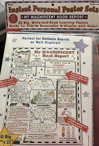 9780439155397: My Magnificent Book Report Posters: 30 Big Write-And-Read Learning Posters Ready for Kids to Personalize with Pride!