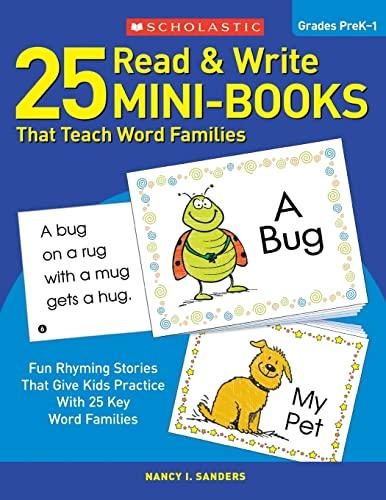 9780439155878: 25 Read & Write Mini-Books: That Teach Word Families