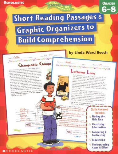 9780439163569: Short Reading Passages & Graphic Organizers to Build Comprehension: Grades 6–8 - do not use, refreshed as 0-545-23457-3 (Ready-To-Go Reproducibles)