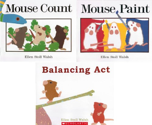 9780439191081: Ellen Stoll Walsh 3 Book Set Mouse Concepts: Balancing Act / Mouse Paint / Mouse Count