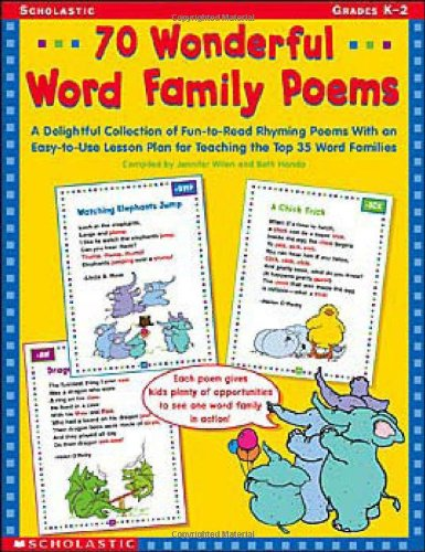 9780439201070: 70 Wonderful Word Family Poems: A Delightful Collection of Fun-to-Read Rhyming Poems With an Easy-to-Use Lesson Plan for Teaching the Top 35 Word Families