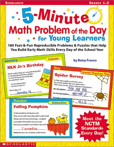 9780439201513: 5-Minute Math Problem of the Day for Young Learners: 180 Fast & Fun Reproducible Problems & Puzzles That Help You Build Early Math Skills Every Day of the School Year, Grades 1-2