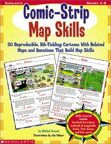 9780439215572: Comic-Strip Map Skills, Grades 4-8