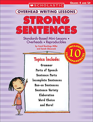 9780439222594: Overhead Writing Lessons: Strong Sentences: Standards-Based Mini-Lessons * Overheads * Reproducibles [With 10 Transparencies]