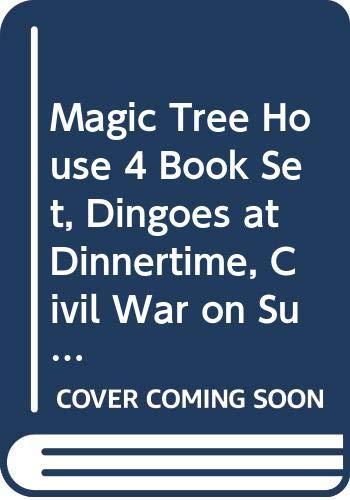 9780439227469: Magic Tree House 4 Book Set, Dingoes at Dinnertime, Civil War on Sunday, Revo...