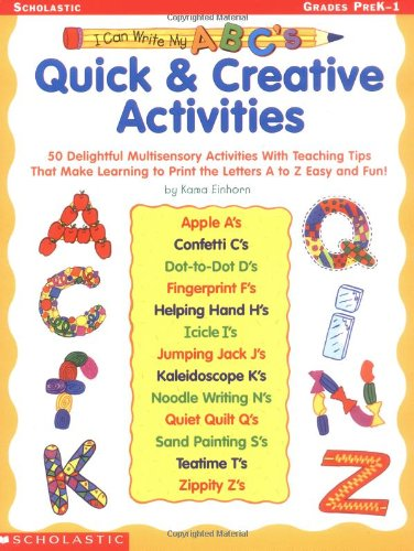 9780439228466: I Can Write My ABC's: Quick & Creative Activities