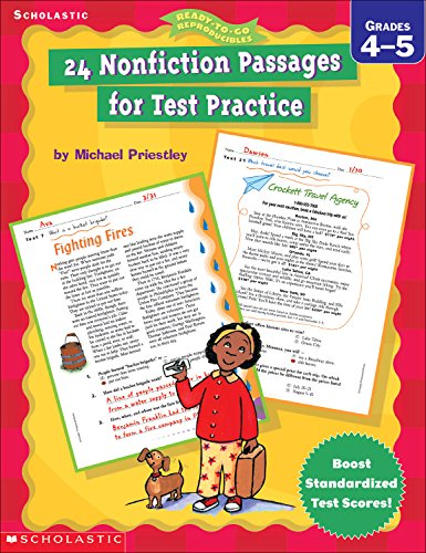9780439256094: 24 Nonfiction Passages for Test Practice (4-5) (Ready-To-Go Reproducibles)