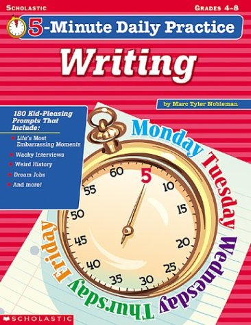 9780439262446: 5-Minute Daily Practice: Writing (Grades 4-8)