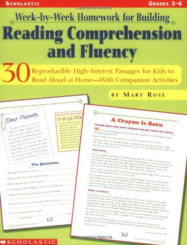 9780439271646: Week-by-Week Homework for Building Reading Comprehension and Fluency, Grades 3-6: 30 Reproducible, High-Interest Passages for Kids to Read Aloud at HomeNWith Companion Activities