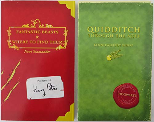 9780439284035: Harry Potter Schoolbooks: Quidditch Through the Ages and Fantastic Beasts and Where to Find Them