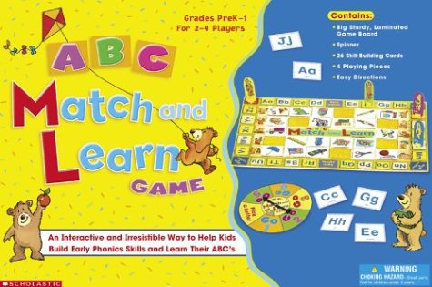 9780439305891: ABC Match and Learn Game: An Interactive and Irresistible Way to Help Kids Build Early Phonics Skills and Learn Their ABC's