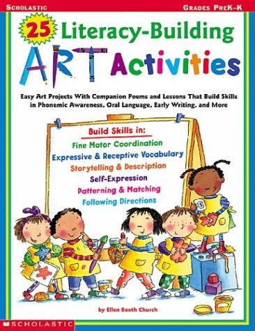 9780439316644: 25 Literacy-building Art Activities