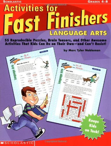 9780439355315: Activities For Fast Finishers: Language Arts