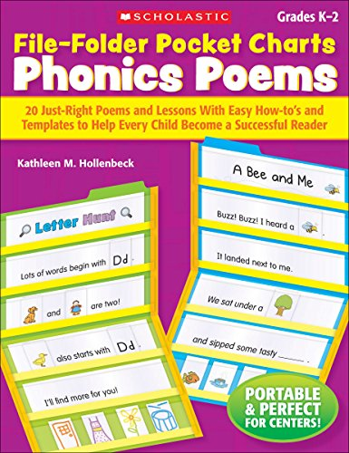 9780439365314: File-Folder Pocket Charts: Phonics Poems, Grades K-2: 20 Just-Right Poems and Lessons with Easy How-To's and Templates to Help Every Child Become a Su