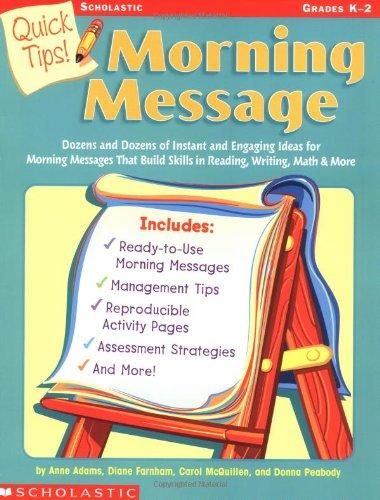 Quick Tips!: Morning Message: Adams Et Al,