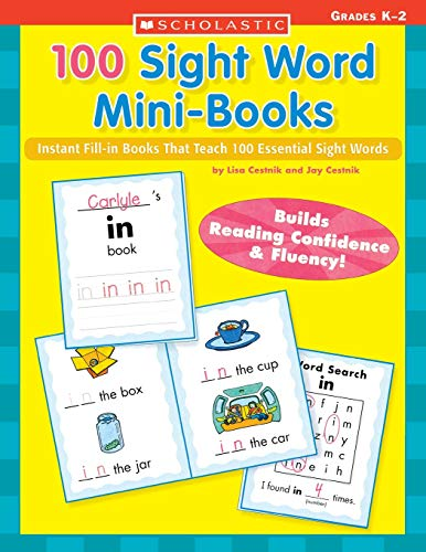 9780439387804: 100 Sight Word Mini-Books: Instant Fill-in books That Teach 100 Essential Sight Words