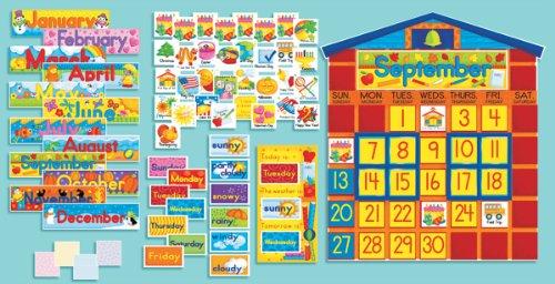 9780439394055: All-in-One Schoolhouse Calendar (Scholastic Bulletin Boards)