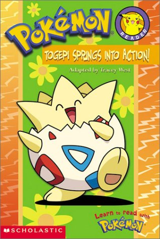Pokemon Togepi Springs Into Action (A Pokemon Reader) 9780439429917 A brand-new, full-color, easy-to-read format featuring popular Pokemon, Pikachu and Togepi. It's Spring! The flowers are blooming, the Bird Pokemon are singing...and little Togepi, the egg-shaped Pokemon, is missing. Never fear! Pikachu and Houndoom will find Togepi...unless Team Rocket gets to the baby Pokemon first!