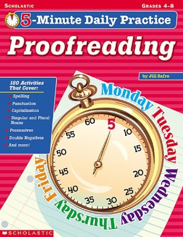 9780439431118: Proofreading Grades 4-8 (5-Minute Daily Practice)