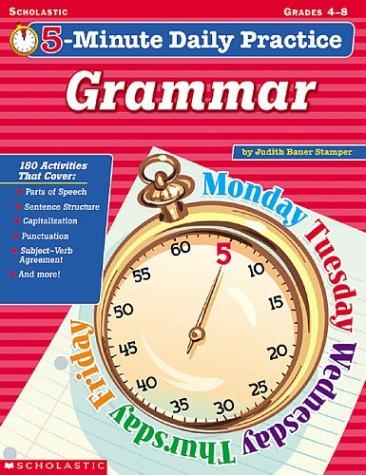 9780439437639: 5-minute Daily Practice: Grammar, Grades 4-8
