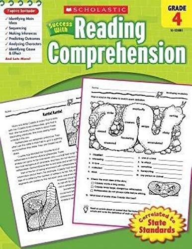 9780439444927: Scholastic Success With: Reading Comprehension Workbook: Grade 4