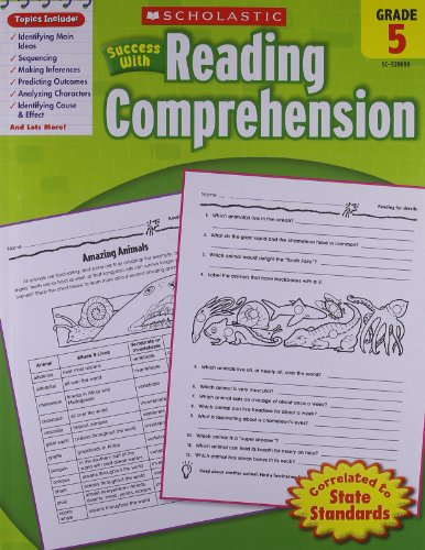 9780439444934: Scholastic Success With: Reading Comprehension Workbook: Grade 5