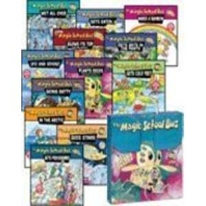 9780439446020: THE MAGIC SCHOOL BUS BRIEFCASE (12-BOOK SET IN CARRYING CASE) (The Magic School Bus ... Blows Its Top: A Book About Volcanoes, Gets Ants in Its Pants: A Book About Ants, Gets Cold Feet: A Book About Warm- and Cold-Blooded Animals, Gets Eaten: A Book About Food Chains, Gets Programmed: A Book About Computers, Going Batty: A Book About Bats, In the Arctic: A Book About Heat, Makes a Rainbow: A Book About Color, Plants Seeds: A Book About How Living Things Grow, Sees Stars: A Book About Stars, Ups and Downs: A Book About Floating and Sinking, Wet All Over: A Book About the Water Cycle)