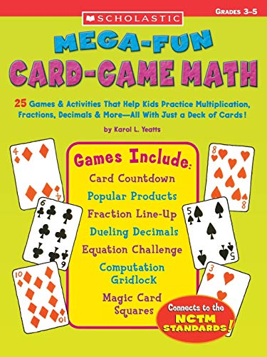9780439448550: Mega-fun Card-Game Math: Grades 3-5