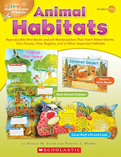 9780439453370: Easy Make & Learn Projects Animal Habitats Grades 2-3